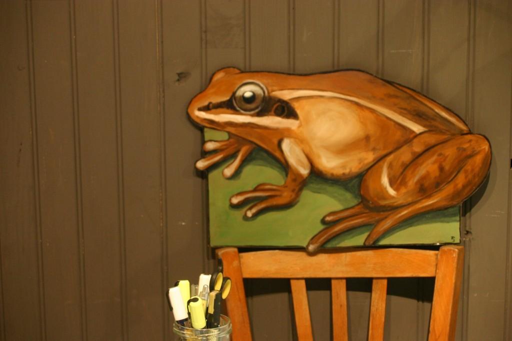 Peinture grenouille