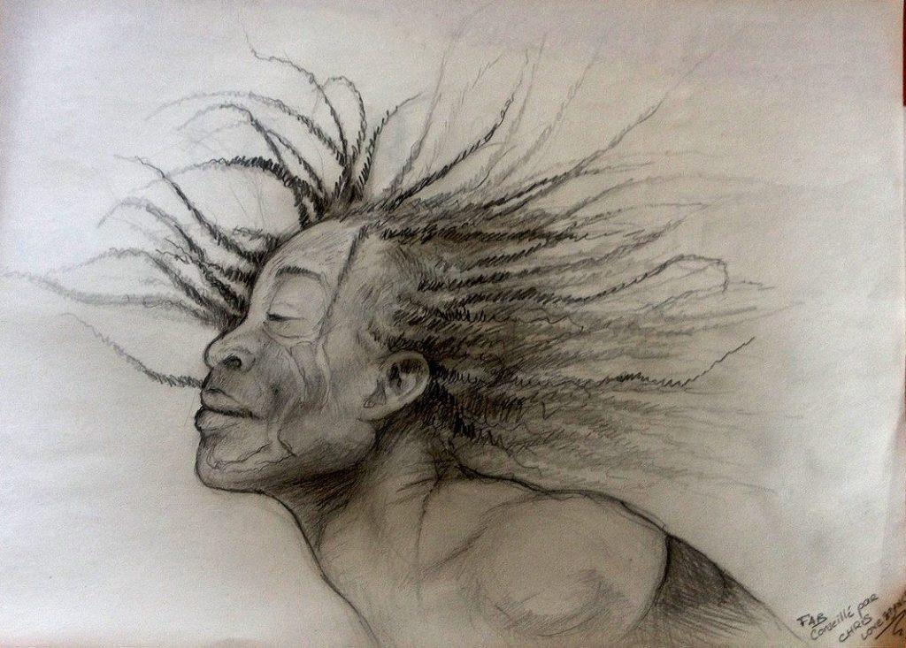 Danseur afro jazz dessin portrait