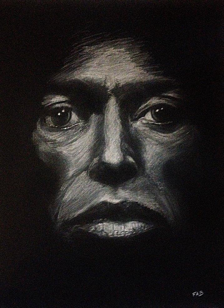 Portrait Miles Davis Format raisin