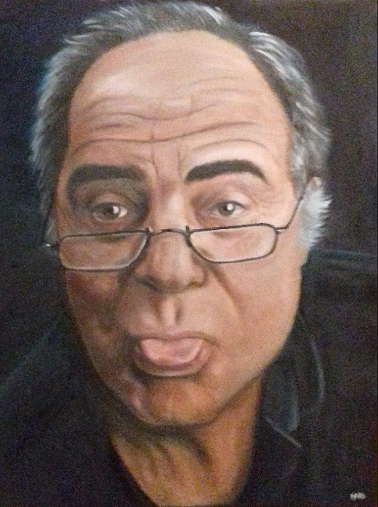 Peinture à l'huile sur toile portrait de Willy