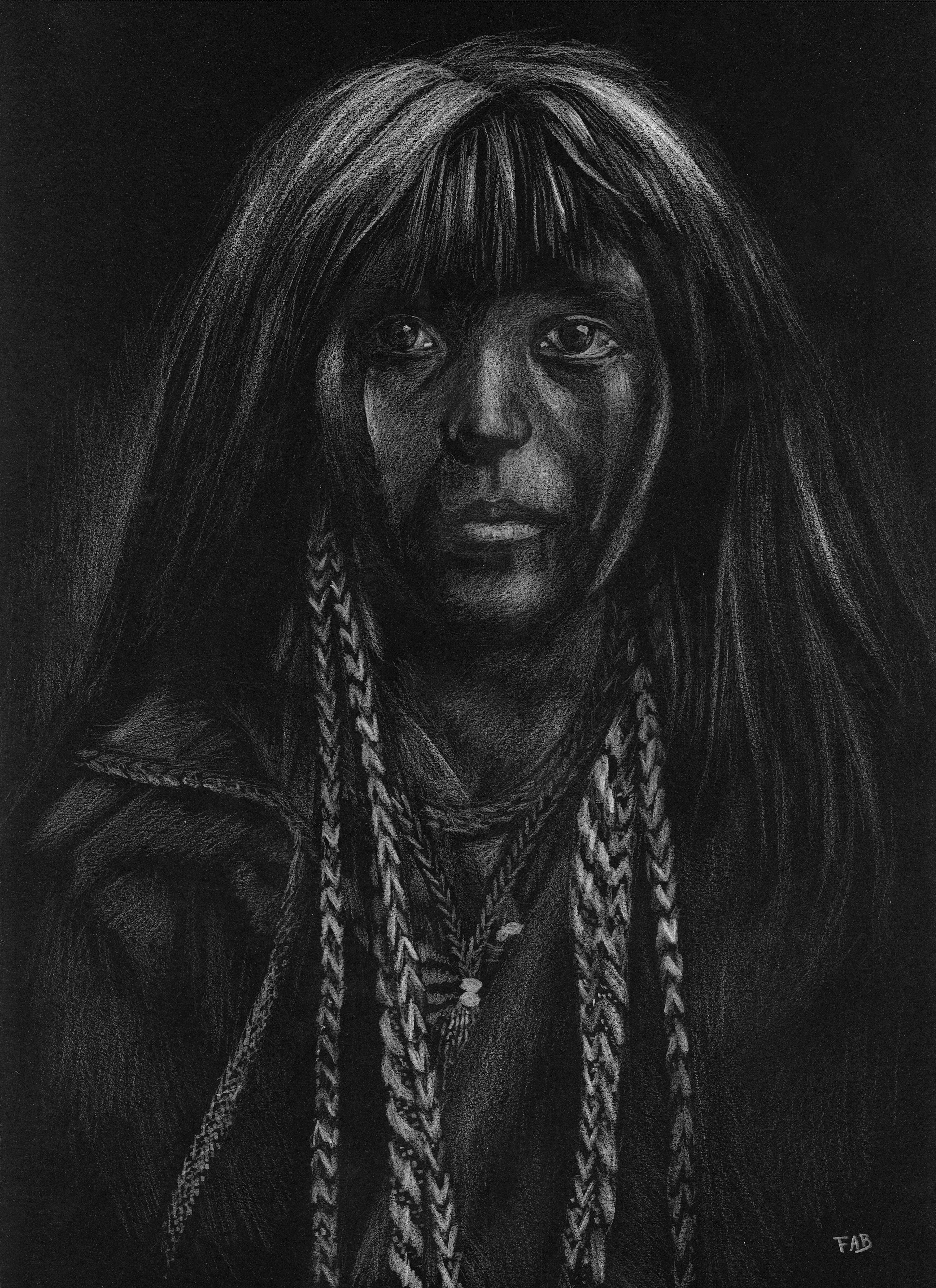 Jeune fille indienne dessin