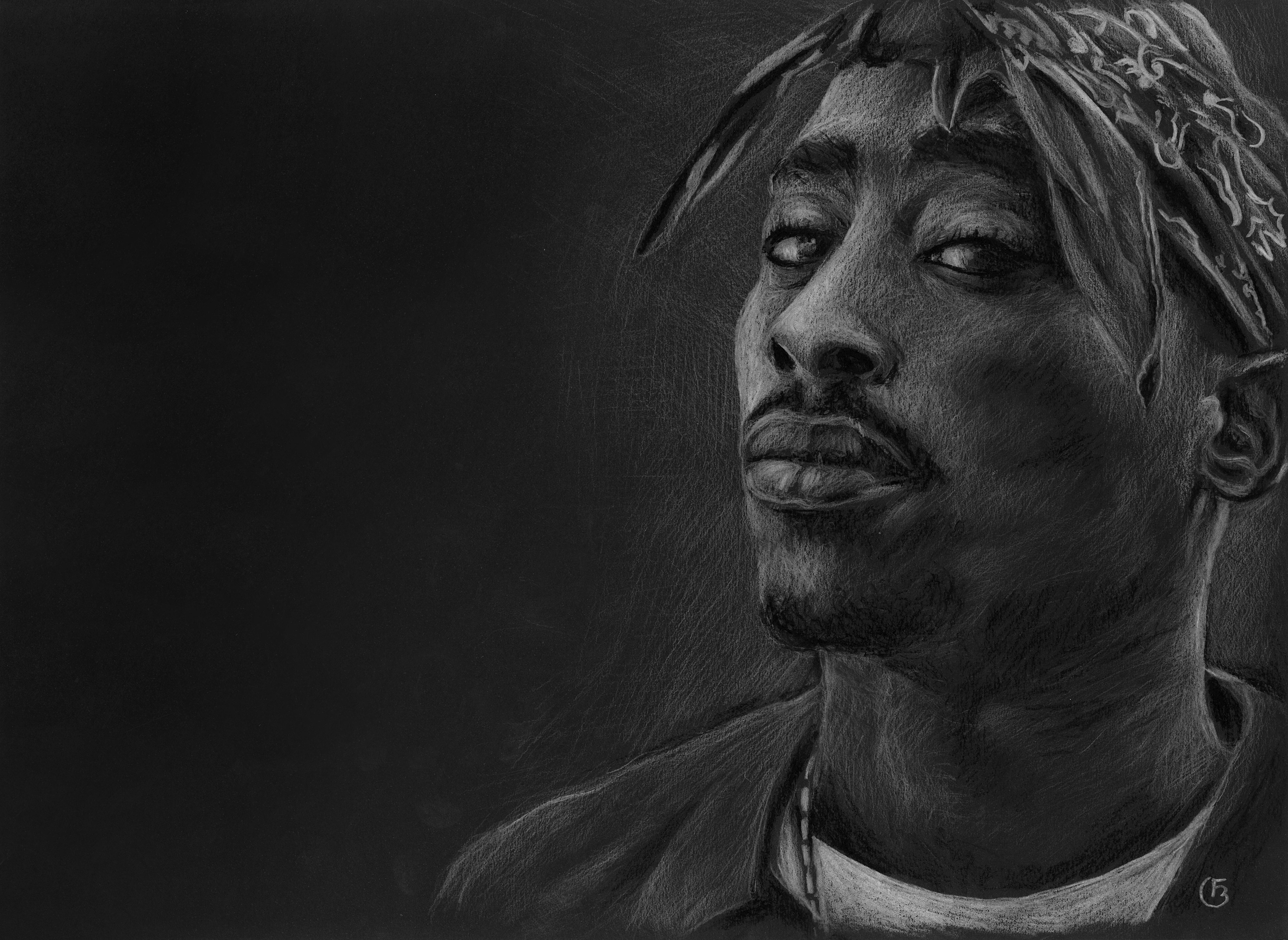 2Pac portrait dessin