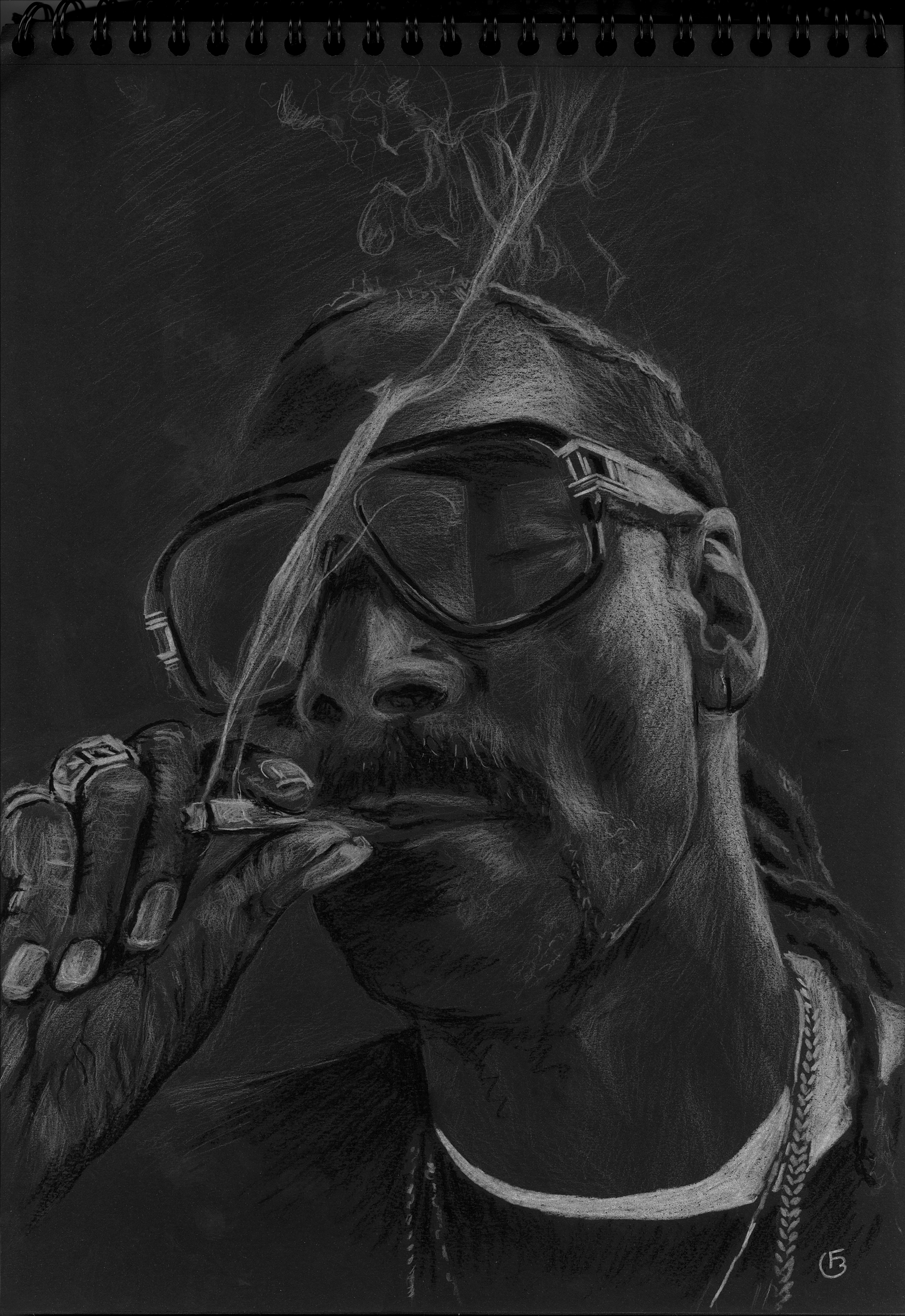 Snoop dog portrait dessin